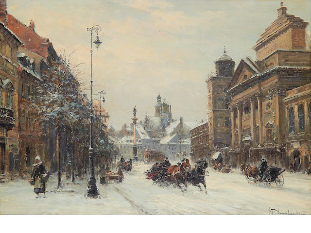 Wladyslaw Chmielinski (Polish, 1911-1979) Warsaw in winter
