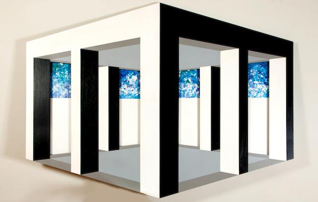 Opy Zouni (1941-2008) Columns-Shadows 135 x 178 x 2.5 cm.