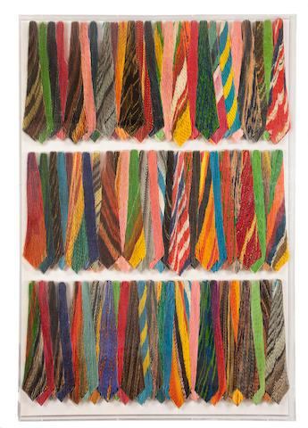 Pavlos  (Pavlos Dionyssopoulos) (Greek, born 1930) Ties 172 x 121 x 8 cm.