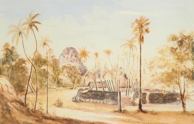 Lieutenant Colonel Atkinson (British, 19th Century) Temple of Annaragopori, Ceylon, 1853