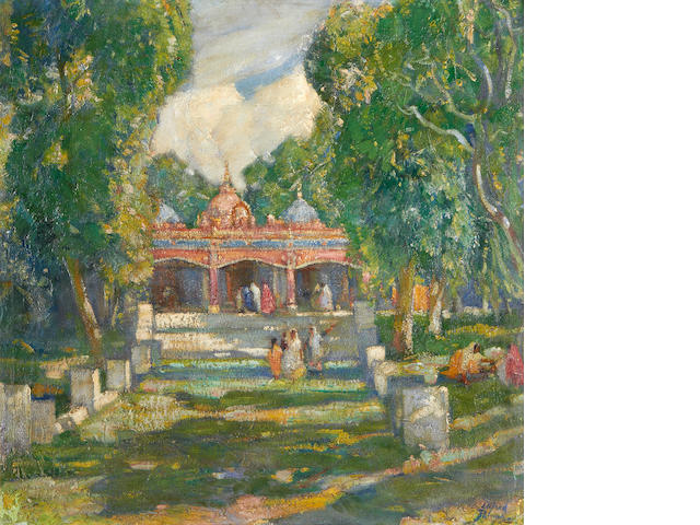 Alfred Palmer (British, 1877-1951) A Hindu temple, Northern India