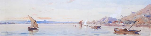 Henry Pilleau (British, 1813-1899) Thane Creek, Bombay
