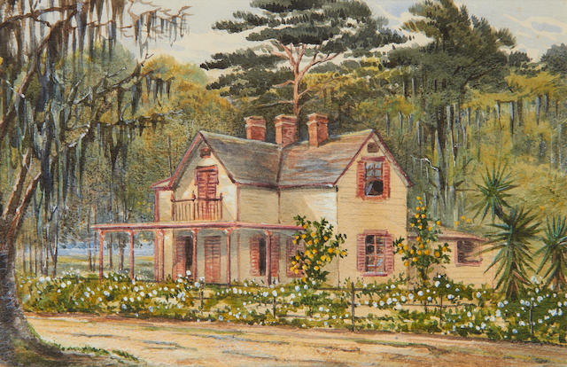 Bertha Katherine Turnor (late 19th Century) Lone Cottage, Oak Hill, Volusia County, Florida