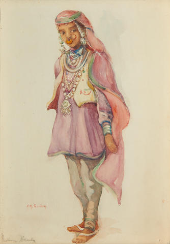 Hilda May Gordon (British, 1874-1972) An Indian beauty