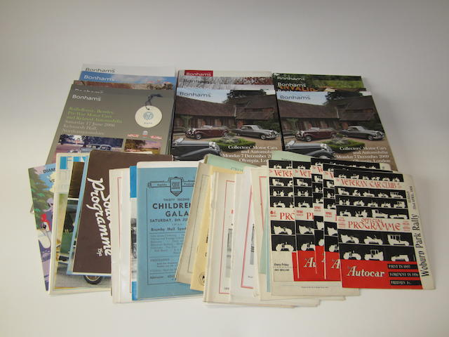 A quantity of VCC Rally Programmes, 1950s-70s,