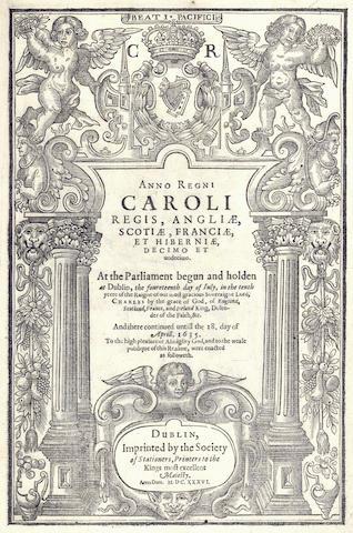 IRELAND Anno regni Caroli Regis, Angliae, Scotiae, Franciase, et Hiberniae, decimo et undecimo, 1636