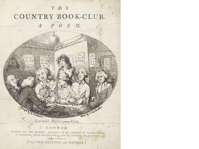 SHILLITO (CHARLES, of Colchester)] The Country Book-Club. A Poem, 1788