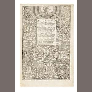 FOXE (JOHN)] [Book of Martyrs]. Acts and Monuments, vol. one (of 3), 1641
