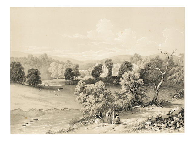 BURKHILL (JOHN) Bolton Illustrated: A Series of Views of the Scenery Around Bolton Abbey, Wharfdale, Yorkshire, the Picturesque Domain of His Grace The Duke of Devonshire, 1848