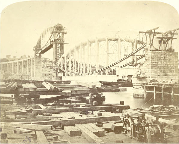 ENGINEERING HUMBER (WILLIAM) A Practical Treatise on Cast and Wrought Iron Bridge Construction. Including Iron Foundations, 2 vol., 1870; and others (23)