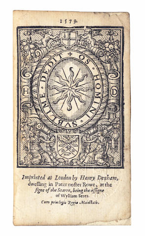 ROGERS (THOMAS) A Golden Chaine, Taken Out of the Rich Treasurehouse of the Psalmes of King David: also, the Pretious Pearles of King David, 1579