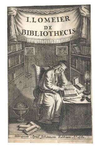 LOMEIER (JOHANNES) De bibliothecis liber singualaris. Editio secunda... addito rerum indice locupletior