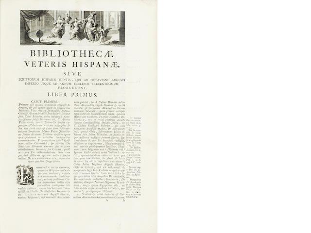 ANTONIO (NICOLAS) Bibliotheca Hispana vetus [Hispana nova], 4 vol., 1788