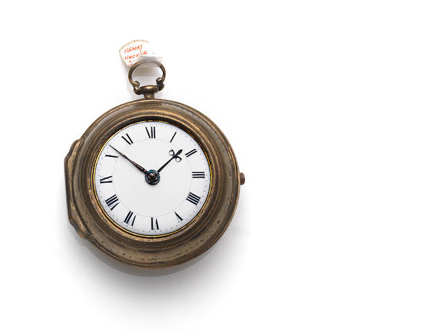 A pair-cased pocket watch