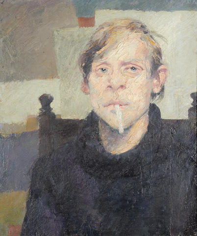 Robert O. Lenkiewicz (British, 1941-2002) Self portrait