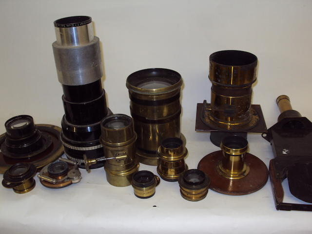 A collection of various camera lenses