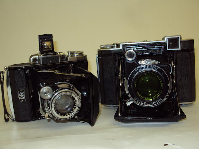 Two Zeiss Super Ikonta cameras