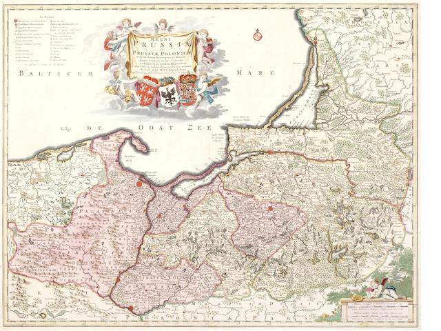 PRUSSIA  WIT (FREDERICK DE) Regni Prussiae et Prussiae Polonicae, [c.1715]