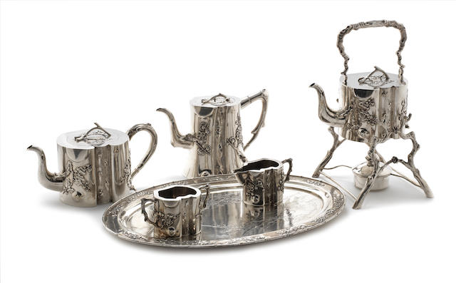 A Chinese   silver tea service
