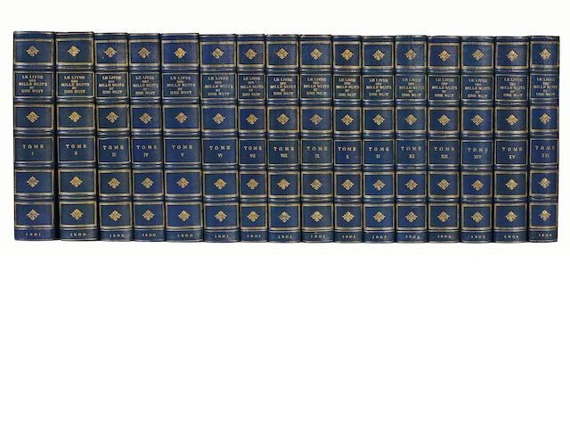 BINDINGS Le livre des milles nuits et une nuit. Traduction... par le Dr. J.C. Mardrus, 16 vol., 1900-1904
