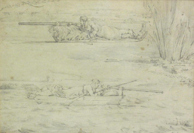 After Henry Alken 'A Sledge working up to a wake' and 'Punting'