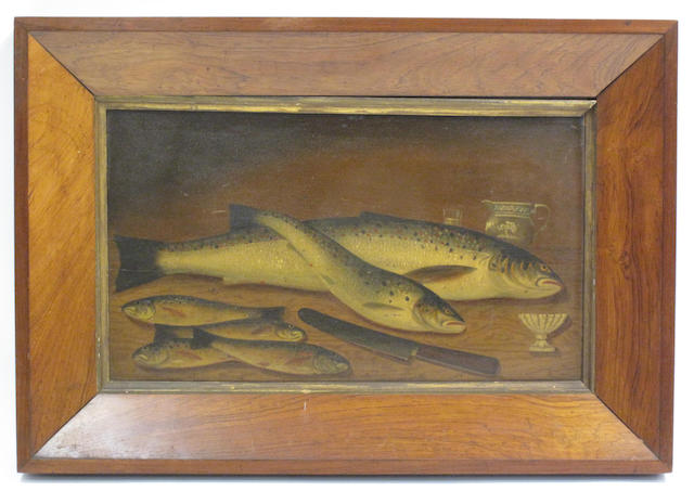English School, (late 19th century) A day's catch of trout