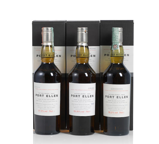 Port Ellen-2nd Annual Release- 1978- 24 year old (1) <BR /> Port Ellen-3rd Annual Release- 1979- 24 year old (1) <BR /> Port Ellen-4th Annual Release- 1978- 25 year old (1)