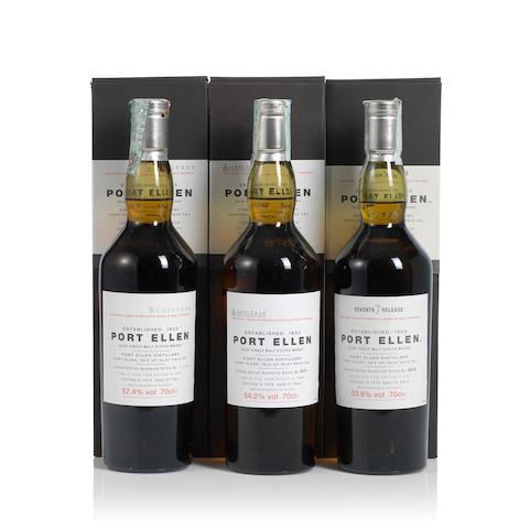 Port Ellen-5th Annual release- 1979- 25 year old (1) <BR /> Port Ellen-6th Annual Release- 1978- 27 year old (1) <BR /> Port Ellen-7th Annual Release- 1979- 28 year old (1)