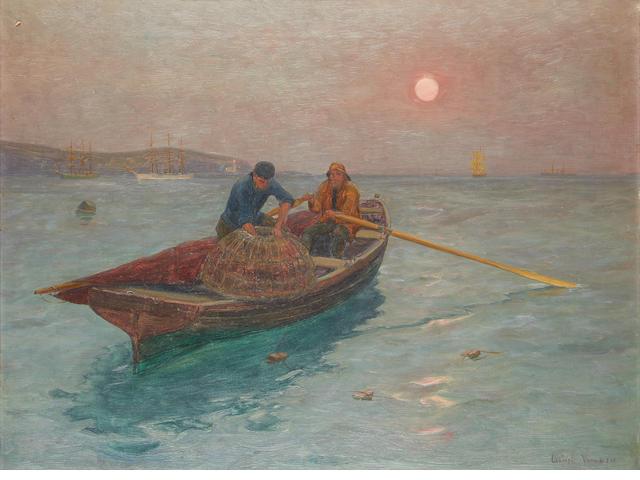 Lionel Walden (American, 1861-1933) Fishermen off Falmouth