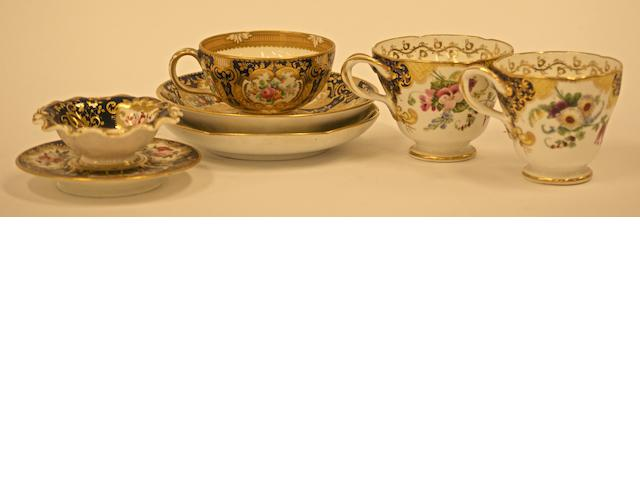 A collection of English porcelain, late 18th / early 19th century