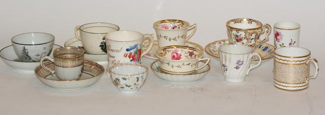 A collection of 19th century English porcelain