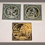A pair of Victorian tiles by Minton
