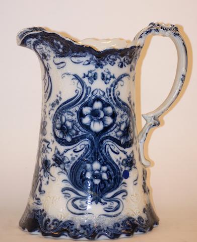An Art Nouveau J&G Meakin 'Lombardy' pattern water jug