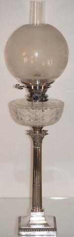 An Edward VII silver mounted spirit lamp, Sheffield 1910