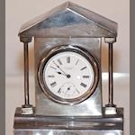 An Edward VII silver watch stand by Walker and Hall, Sheffield 1904 2