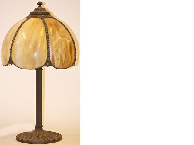 An Edward Miller & Co glass table lamp, circa 1920