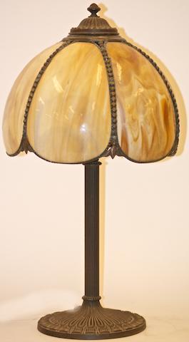 An Edward Miller & Co glass table lamp, circa 1920