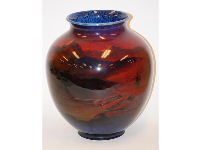 "A large Royal Doulton ""Sung"" ovoid vase designed by Charles Noke"