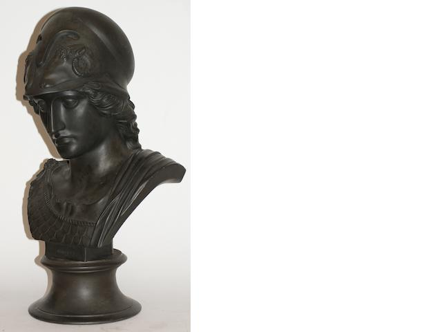 A large Wedgewood Basalt bust of Minerva