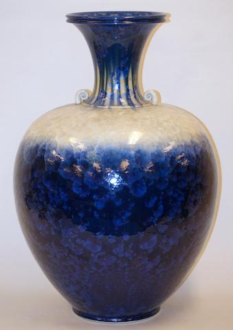 A large glazed earthenware two handled vase