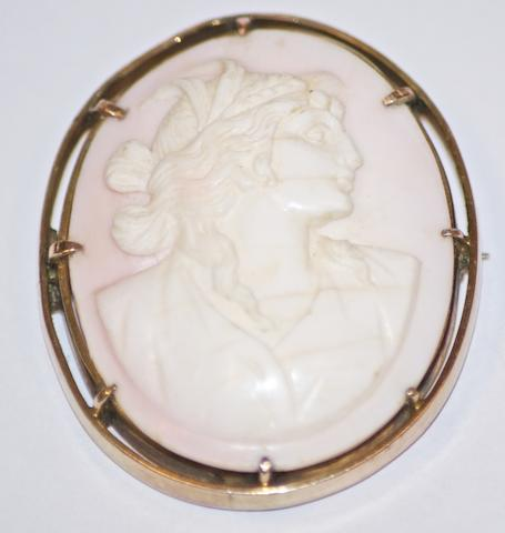 An Australian cameo brooch by Louis Suhard & Co, Gawler Place, Adelaide, circa 1895