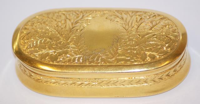 An Australian oval gold box, circa 1900