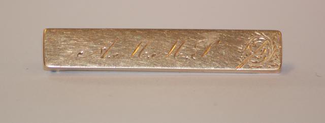 An Australian gold initial bar brooch by John Hart, West Maitland, circa 1900