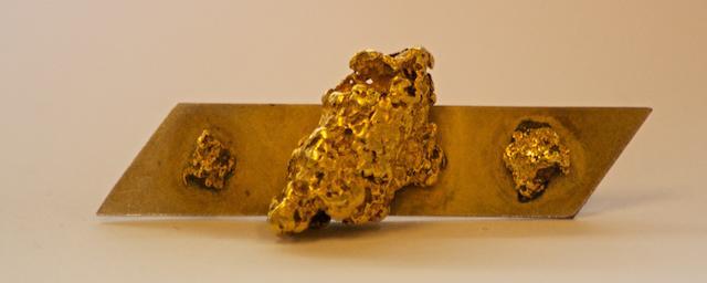 An Australian gold nugget bar brooch by P.N. Crutchett, Gladstone / Moonta, South Australia, circa 1900