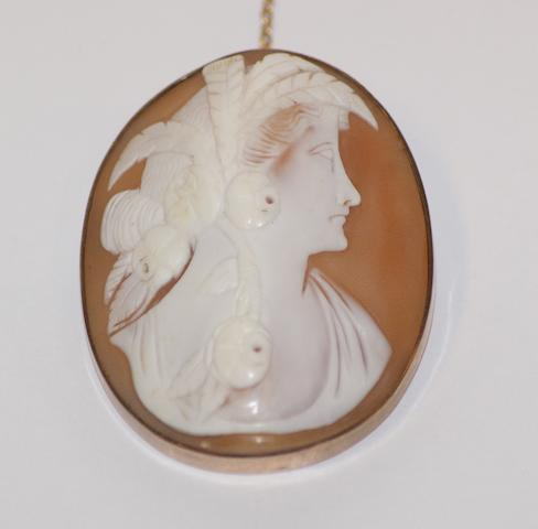 An Australian cameo brooch by James T. Hearn, King William Street, Adelaide, circa 1910