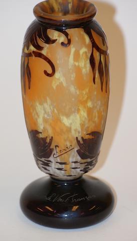 A Charder Le Verre Français cameo glass vase, circa 1930