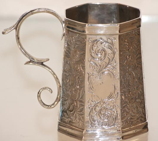 A Colonial Indian silver christening mug by Hamilton & Co, Calcutta, circa 1880