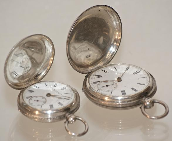 A Victorian silver cased pocket watch by Stewart Dawson & Co, Birmingham 1881 2