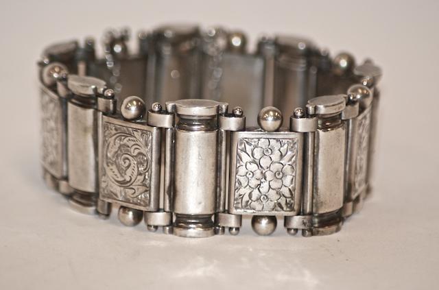 A Victorian silver bracelet