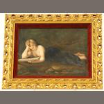"A Berlin (KPM) rectangular plaque,""Magdalena"" after the original by Antonia Allegrida da Correggio 1858"